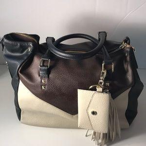 Gorgeous Colorblock Steve Madden satchel handbag